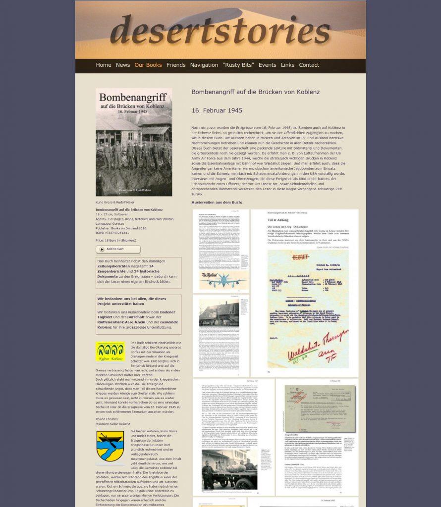 Desertstories.org : Bombenangriff auf die Brücken von Koblenz