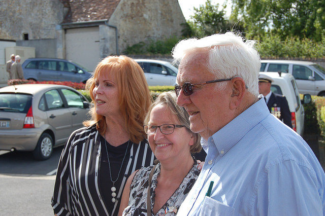 1Lt Marvin Rosvold's family visit to Normandy